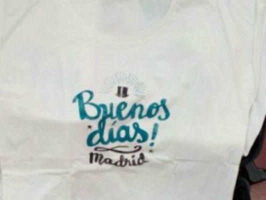 Camiseta manga corta Buenos días Madrid