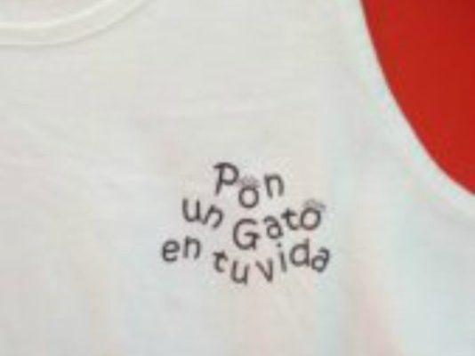 Camiseta tirantes Pon un gato en tu vida