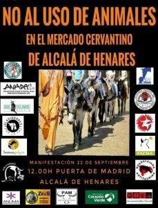 Manifestación No al uso de animales Mercado Cervantino